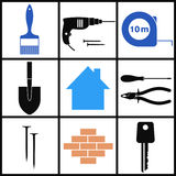 Construction. Icon Set Royalty Free Stock Images