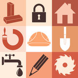 Construction. Icon Set Stock Image