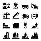 Construction icon set Royalty Free Stock Photos