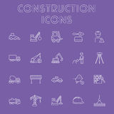 Construction icon set. Stock Image