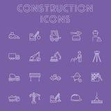 Construction icon set. Stock Image