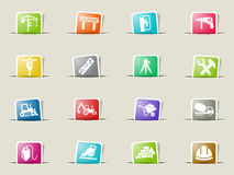 Construction icon set Royalty Free Stock Images