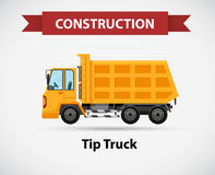 Construction icon for tip truck Stock Photo