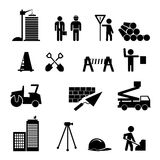 Construction icons. Construction and heavy equipment black icons