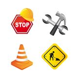 Construction icons Stock Image