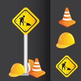 Construction icons Royalty Free Stock Photo
