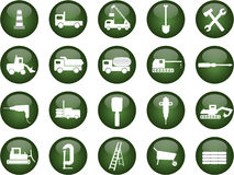 Construction icons. Various vector format construction icons royalty free illustration