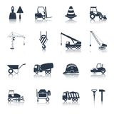 Construction Icons Black Stock Photos