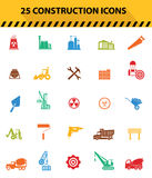 Construction icons,Colorful icons Stock Images