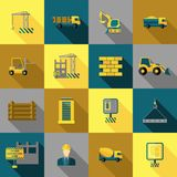 Construction Icons Flat Royalty Free Stock Images