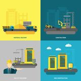 Construction Icons Flat Stock Image