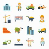 Construction Icons Flat Stock Photography
