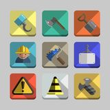 Construction icons 2 Royalty Free Stock Images