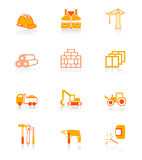 Construction icons | JUICY series Stock Images