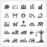 Construction icons set vector illustration