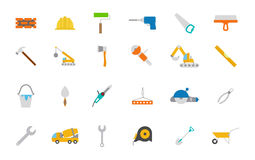 Construction  icons set. Set of 24 Construction  icons Stock Photos