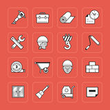 Construction icons set Stock Images
