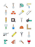 Construction icons set. Set of 24 costruction icons Stock Photography