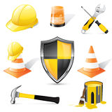 Construction icons. Set of detailed vector construction icons Stock Photos