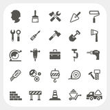 Construction icons set. EPS10, Don't use transparency Stock Image
