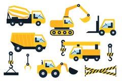Construction icons set. Flat vector illustration Royalty Free Stock Photos