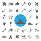 Construction Icons set. Stock Image