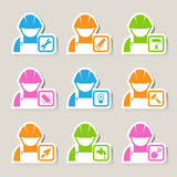 Construction Icons set Stock Photography