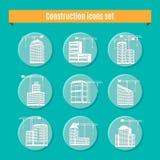 Construction Icons Set Stock Photos