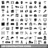 100 construction icons set in simple style. For any design vector illustration Stock Photos