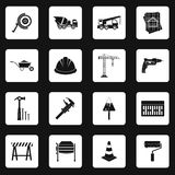 Construction icons set , simple style Stock Photography
