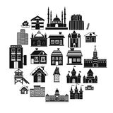 Construction icons set, simple style. Construction icons set. Simple set of 25 construction vector icons for web isolated on white background Stock Image