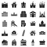 Construction icons set, simple style. Construction icons set. Simple set of 25 construction vector icons for web isolated on white background Stock Photography