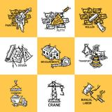Construction icons set Stock Image