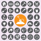 Construction Icons set.vector/eps10. Royalty Free Stock Photography
