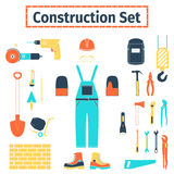 Construction icons set Stock Photos
