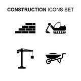 Construction icons set. Vector illustration. Construction icons set. Silhouette flat design vector illustration Stock Image