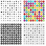 100 construction icons set vector variant. 100 construction icons set vector in 4 variant for any web design isolated on white Stock Photos
