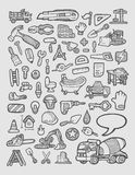 Construction Icons Sketch Royalty Free Stock Images