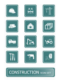 Construction icons | TEAL series stock illustration