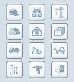 Construction icons | TECH series Royalty Free Stock Images
