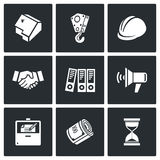 Construction icons. Vector Illustration. Royalty Free Stock Photos