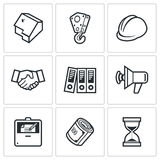 Construction icons. Vector Illustration. Royalty Free Stock Image