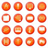 Construction icons vector set Stock Image