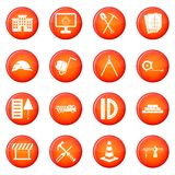 Construction icons vector set Royalty Free Stock Photography
