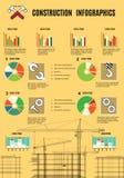 Construction Iinfographics Stock Image