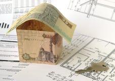 construction immobilière de financement photo stock