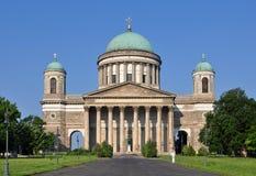 Construction imposante de basilique Esztergom, Hongrie images libres de droits