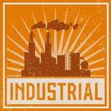 Construction industrial building icon Stock Photography