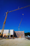 Construction of an industrial building Royalty Free Stock Image