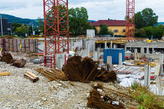 Construction of an industrial building Royalty Free Stock Photography